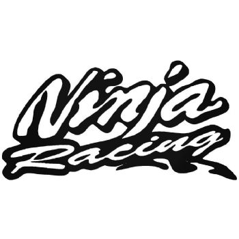 2x Ninja Racing Stickers Car Motorbike Vinyl Decals
